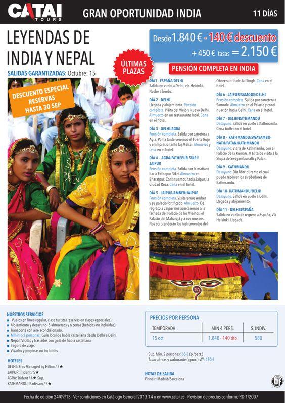 Gran oportunidad: Leyendas INDIA y NEPAL, últimas plazas, desc 30 setp, pc India, 11d dsd 2.150€ - http://zocotours.com/gran-oportunidad-leyendas-india-y-nepal-ultimas-plazas-desc-30-setp-pc-india-11d-dsd-2-150e/