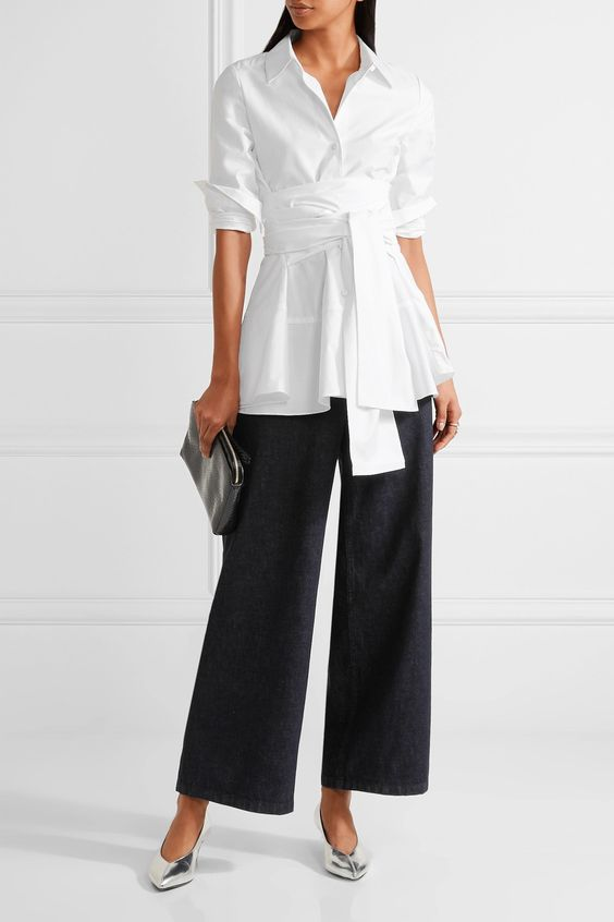 Co | Cotton-sateen blouse | NET-A-PORTER.COM