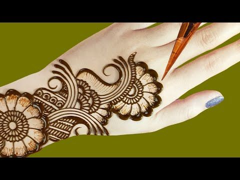 simple mehndi designs for back hands step by step for beginners