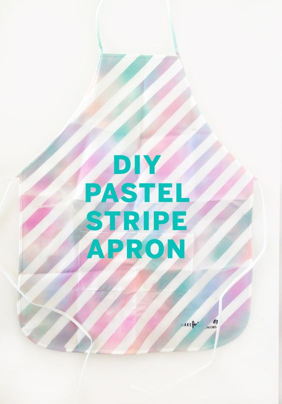 DIY pastel stripe apron by the Sweet Escape