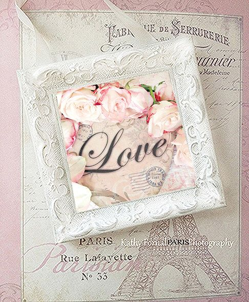 Shabby chic love decor shabby cottage framed love roses - Vintage and chic love ...
