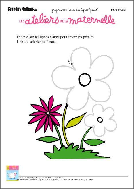 Graphisme - Petite Section - Tracer des lignes | Activités pour l'école | Pinterest | Petite section