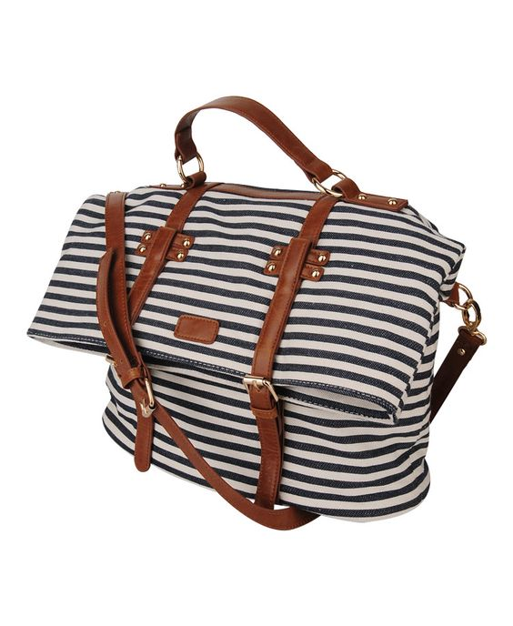 Striped Shoulder Bag | FOREVER21 - 1011671092  Okay, I really do need a new bag for school. All the other straps of my other school bags broke :(