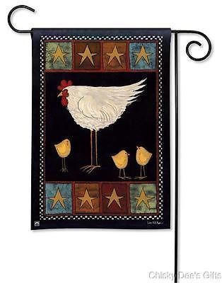 BreezeArt Garden Flag Hen and Chicks chicken rooster NEW