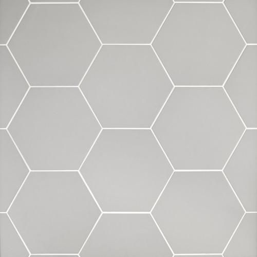 Opal Gray Hexagon Porcelain Tile Bathroom Flooring Hexagon Tile Floor Tile Bathroom