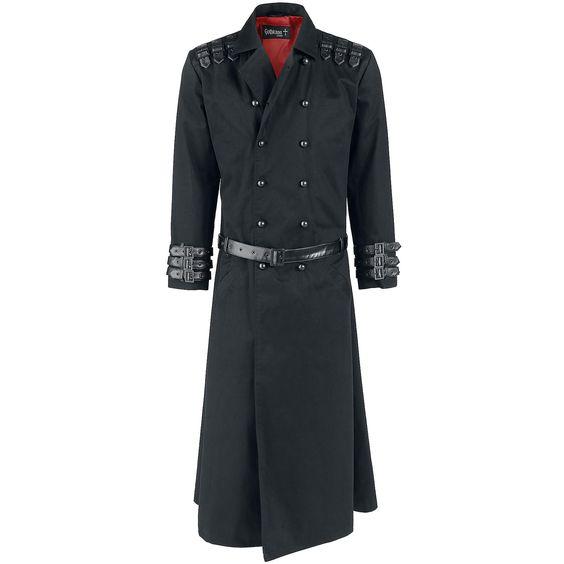 """Gothicana by EMP Legerjas """"Maniac Coat"""" zwart • Large"""