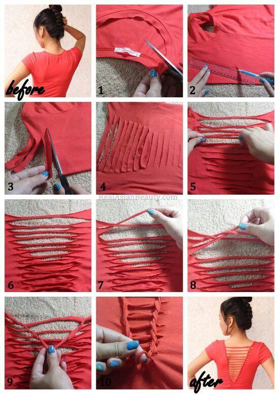 neat cut shirt for tori kari to do make reuse pinterest clothes diy clothes and craft - T Shirt Design Ideas Cutting