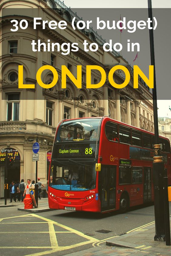 How to do London on a budget! 30 Free (or budget) things to do in London http://www.london4vacations.com/