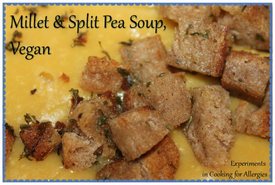 Millet & Split Pea Soup, Vegan | Split Peas, Pea Soup and Vegans