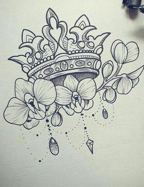 Kronentattoo Korona Tetovalas Tattoos Flowertattoos Tatuajes De Hijas Disenos De Tatuaje De Flores Tatuajes Para Madres