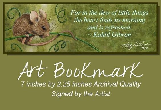 Mouse Bookmark from Original Painting Melody Lea by MelodyLeaLamb, $5.00
