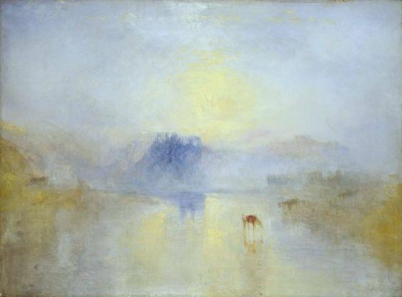Norham Castle, Sunrise, 1845. Joseph Mallord William Turner.