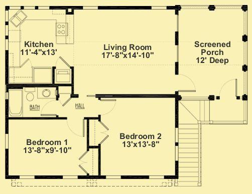 AR 020 2nd Floor Kitchen Large Living Room 2 Bedrooms