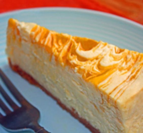 28 Enticingly Exotic Thai Desserts to Please all Palates: Mango Swirl Cheesecake