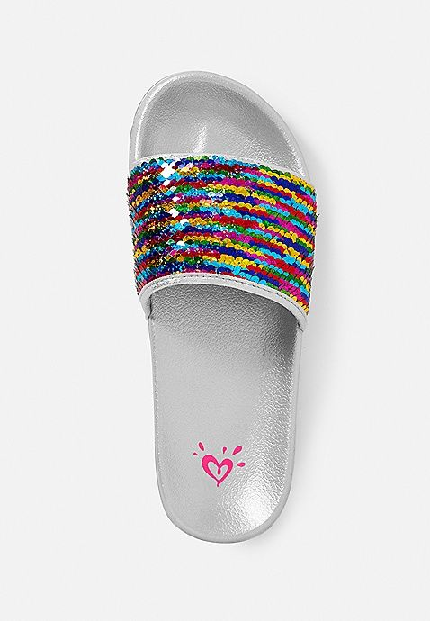 Flip Sequin Slide Sandals Justice Moda Instagram Moda
