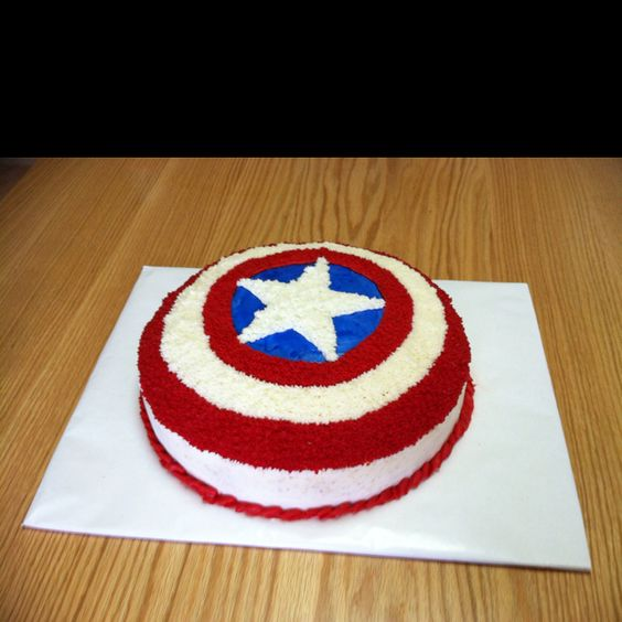 Grant's Cap't America cake... with the yummy 123 gluten free cake (going to top with a Capt America figure).