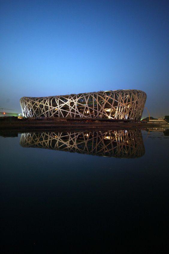 "beijing national stadium by Herzog & de Meuron, the ""Bird's Nest"""