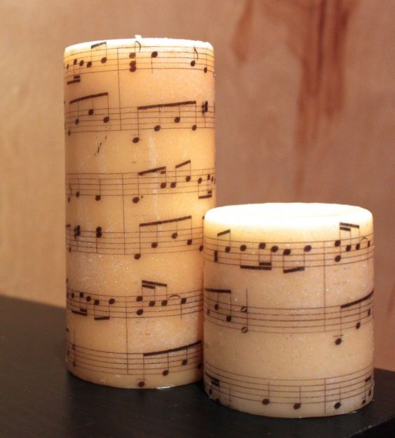 001 DIY Image Transfer Candles Music notes, DIY and crafts