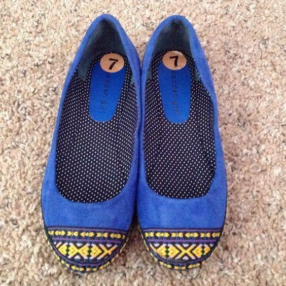 Blue Madden Girl Flats Blue Suede Madden Girl Flats Madden Girl Shoes Flats & Loafers