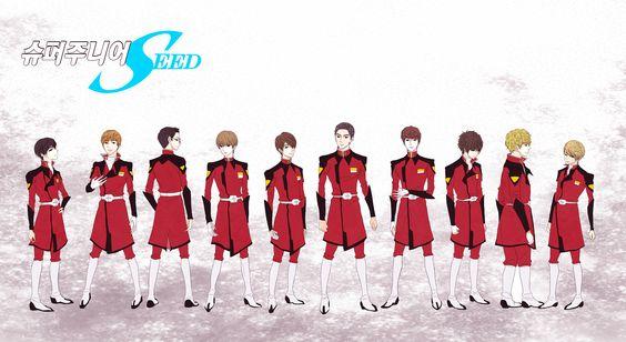 制服1 Super Junior Seed. 5th albumの コンセプトでは 制服を 望みます. [art by: deng]