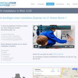 Sie benötigen einen Installateur-Experten im 15. Wiener Bezirk Rudolfsheim-Fünfhaus?  Egal ob Klempner, Installateur oder Heizungsmonteur - wir habe