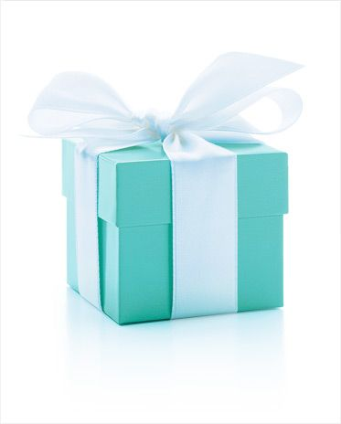 petite boîte de Tiffany & Co bleu pour cadeaux mariage