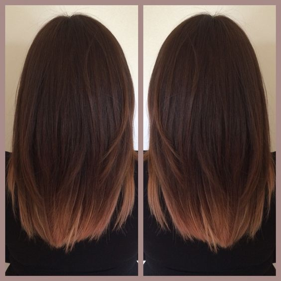 Rose gold ombre hair you 39 re beautiful dahhhling pinterest i love nice and love love love - Balayage pour brune ...
