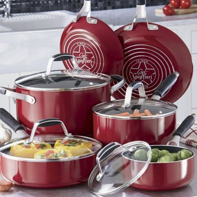 Guy Fieri 10-Piece Nonstick Aluminum Cookware Set