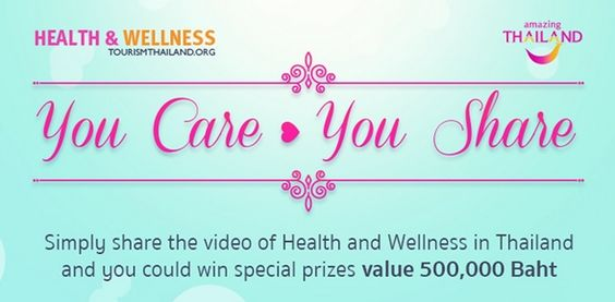 Tourism Authority of Thailand presents 'You Care You Share' to promote health tourism market :http://bookingmarkets.net/en/tourism-authority-thailand-presents-care-share-promote-health-tourism-market/