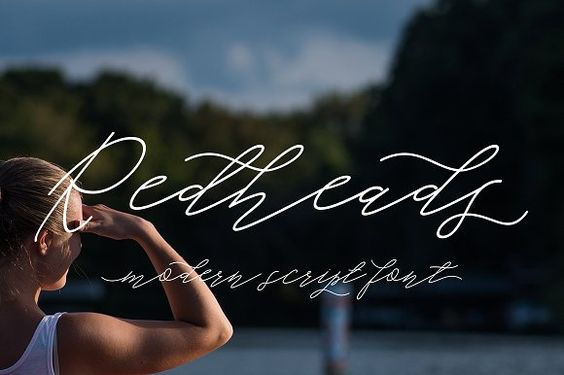 Redheads Script by Area Type Studio on @creativemarket