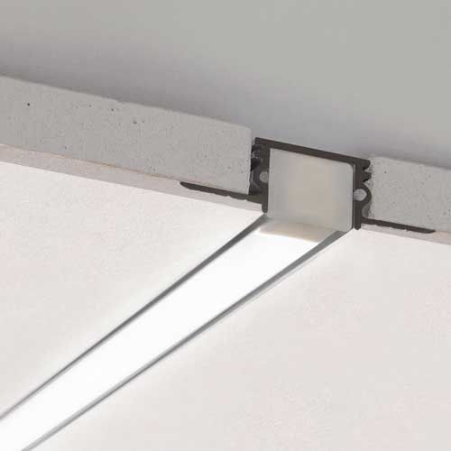 Klus Aluminum Channels For Led Strip Lights Te 4 Kpl Drywall Mounting Track For Pds4 Channel Led Strip Lighting Interior Lighting Ceiling Strip Lighting