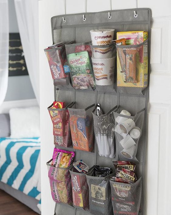 Try this super simple space-saver to keep your things organized and out of the way.