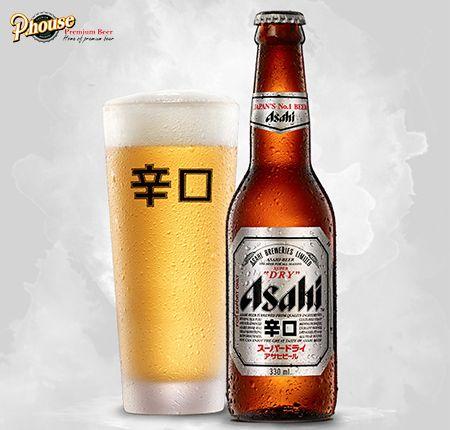 bia Asahi Nhật Bản chai 330ml