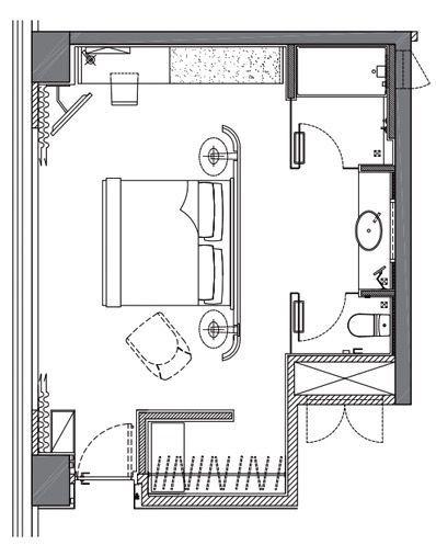 Hotel Icon Hk Club 38 Harbour 38sqm In 2020 Hotel Floor Plan Hotel Room Plan Hotel Floor