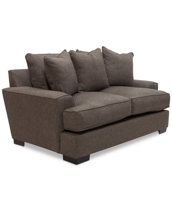 Furniture Ainsley Fabric Sectional Collection Created For: Ainsley Fabric Loveseat