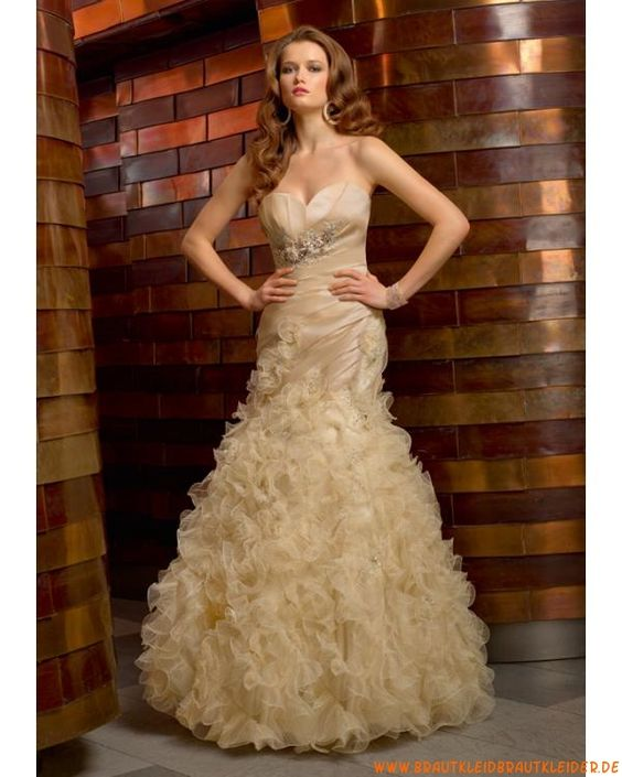 designes Brautkleid  aus Organza im Meerjungfrauenstil