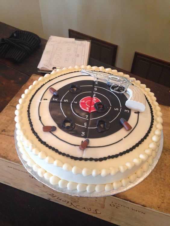 Target Practice Cake Cakes For Him Pinterest Cakes