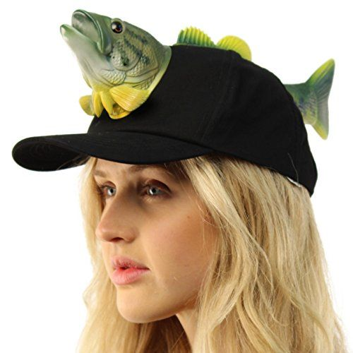 Men S Whimsical Bass Head Tail Fishing Baseball Ball Cap Hat Adjustable Black Fishgifts Net Ball Cap Baseball Ball Hats