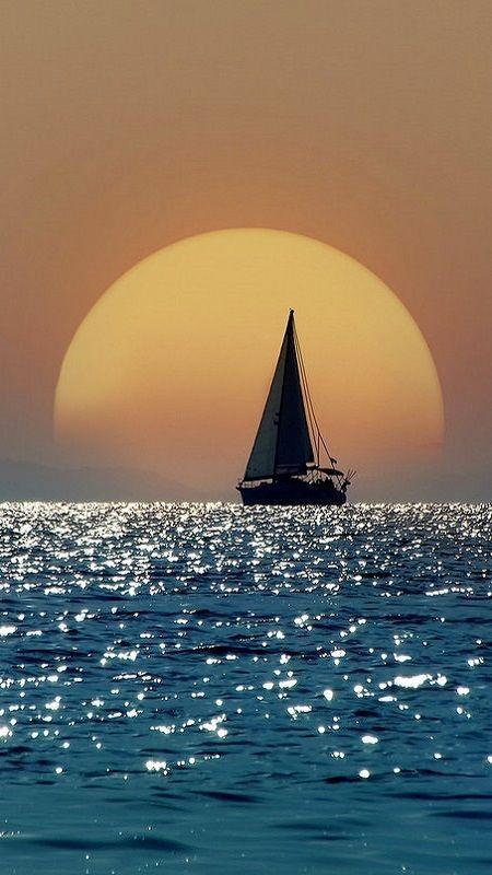 Sunset at Sea: