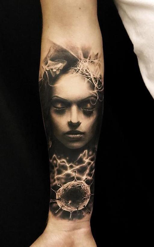 I got my sleeve started yesterday, by Oscar Åkermo, Uddevalla