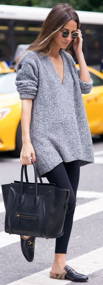 Black + grey. #moda #fashion #cuero #leather #bolsos #bags #zapatos #shoes…:
