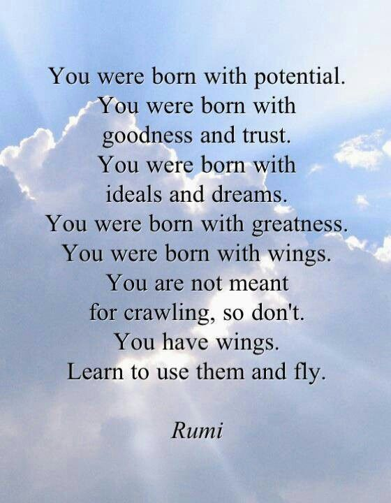 Image result for you were born with potential rumi google images