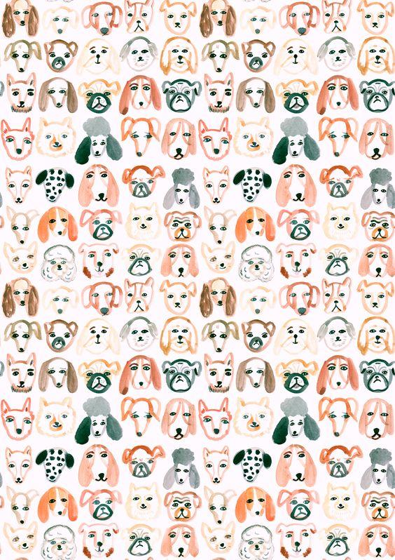 Cachorros Estampado De Gatos And Patrones On Pinterest