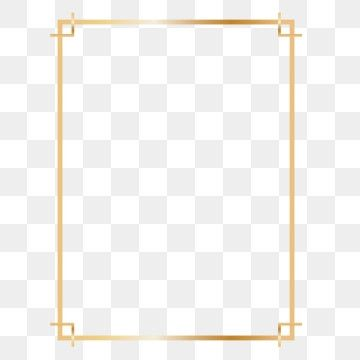 Golden Rectangle Frame Design Clipart Png Rectangle Rectangle Frame Rectangle Gold Frame Png And Vector With Transparent Background For Free Download In 2021 Picture Frame Template Frame Border Design Frame Design