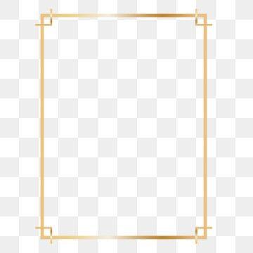 Golden Rectangle Frame Design Clipart Png Rectangle Rectangle Frame Rectangle Gold Frame Png And Vector With Transparent Background For Free Download In 2021 Picture Frame Template Frame Border Design Frame Design