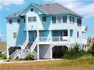 Take in the amazing Beach View!  This oceanfront vacation home is located in the lovely village of Waves on Hatteras Island. With 5 bedrooms, 3.5 ...