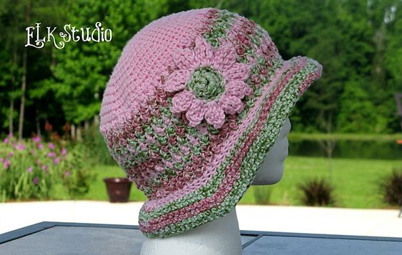 Ravelry: Honeysuckle Summer Hat pattern by Kathy Lashley