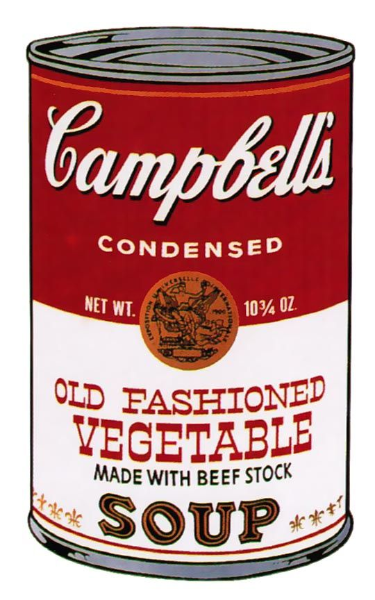Andy Warhol Campbell S Soup Ii Old Fashioned Vegetable 54 1969 Hamilton Selway Andy Warhol Campbell S Soup Cans Warhol