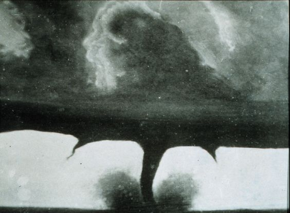 Awesome!!  Oldest known photograph of a tornado. August 28, 1884. 22 miles southwest of Howard, South Dakota. National Oceanic & Atmospheric Administration