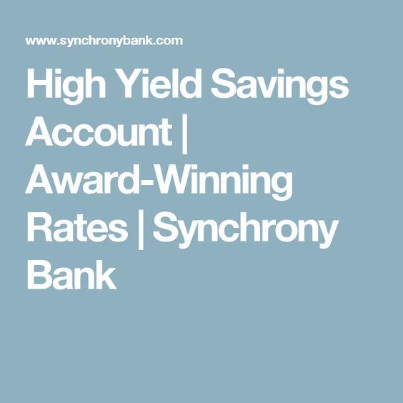 High Yield Savings Account | Award-Winning Rates | Synchrony Bank